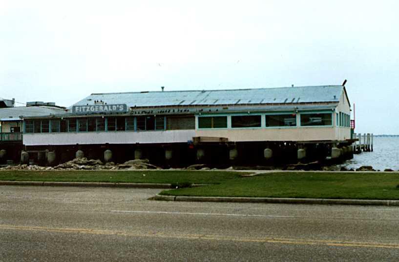 Fitzgerald's Restaurant at West End, New Orleans, 1995 (Edward Branley photo)
