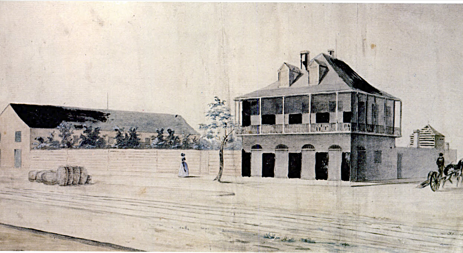 Elysian Fields House, 1842
