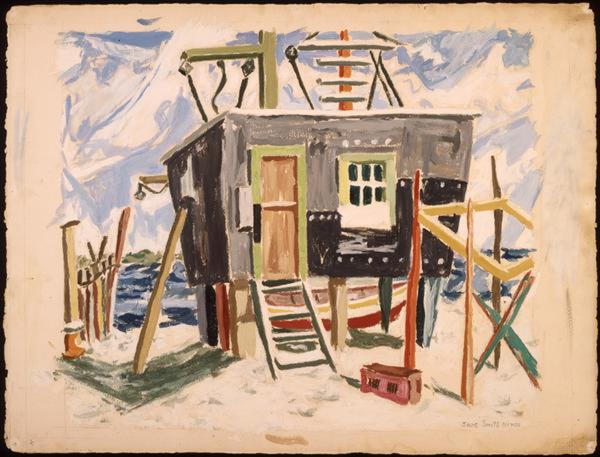 Fishing Shack in the Rigolets, artist Jane Smith Ninas