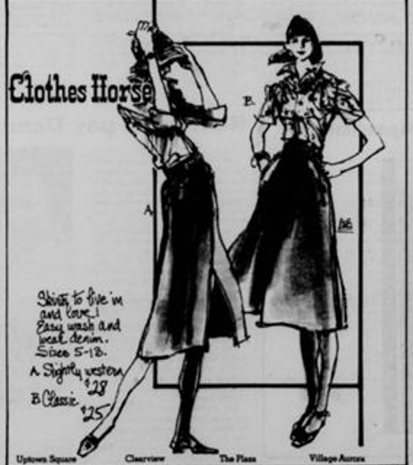 Clothes Horse ad from 1979 – four locations! #NOLAshopping