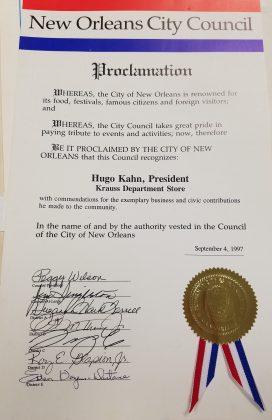hugo kahn city council proclamation