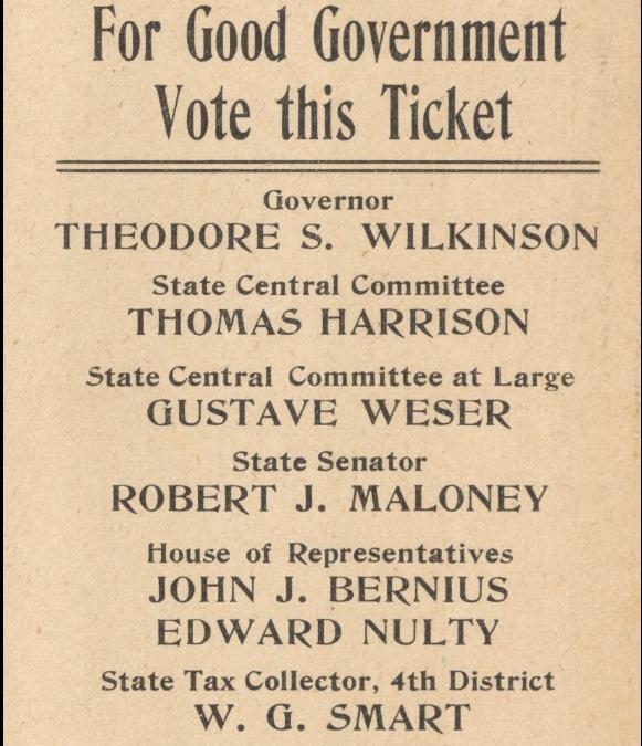NOLA Politics – Anti-Ewing Ticket 1908