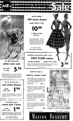 Maison Blanche Swimsuits 1956