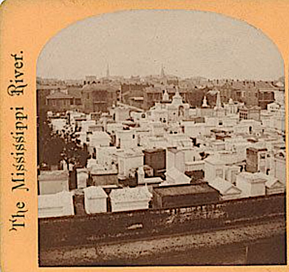 St. Louis Cemetery stereograph
