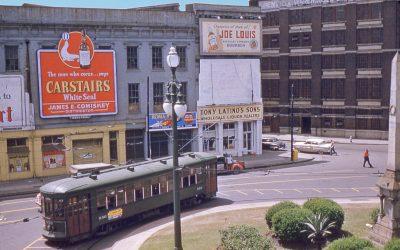 Canal Street turnaround 1955 #StreetcarSaturday