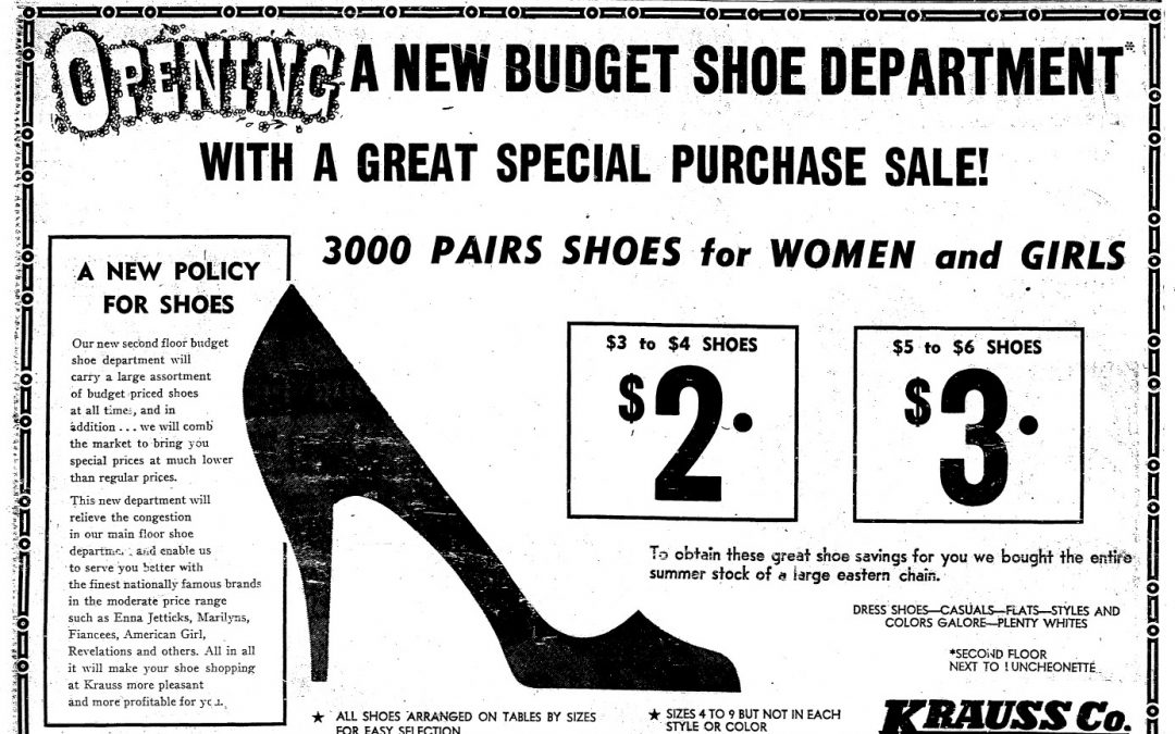 Krauss Discount Shoes 1955