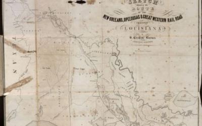 New Orleans Opelousas Great Western Railroad 1850s