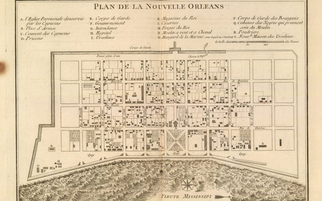 new orleans map 1764