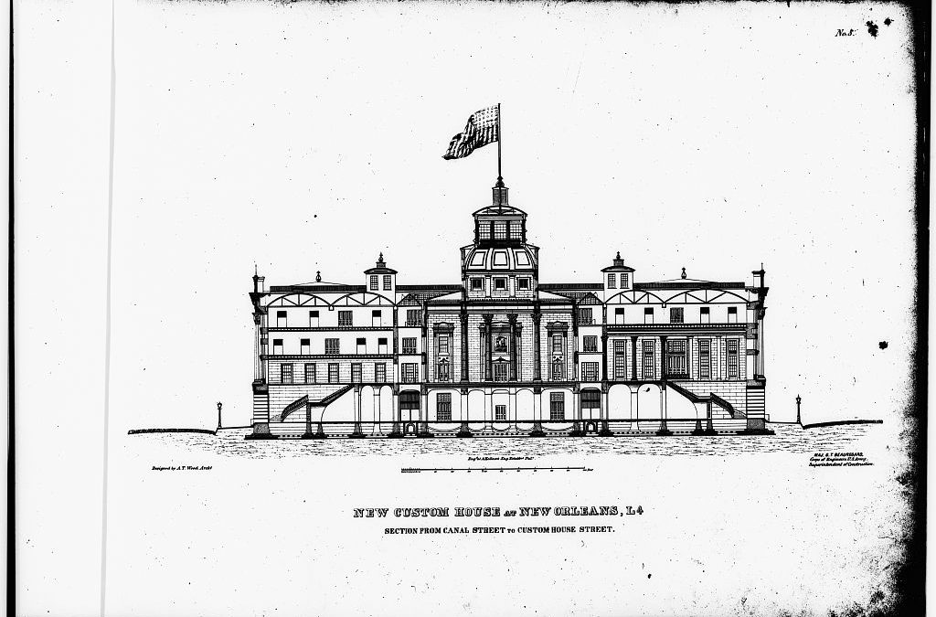 Custom House preliminary design 1851