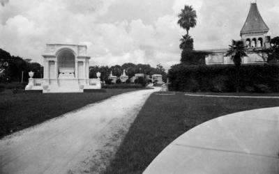 Entering Metairie Cemetery 1930s