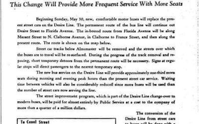 Desire Buses begin 1948 #StreetcarSaturday