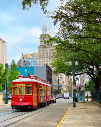 red streetcars uptown
