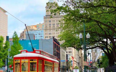 Red Streetcars Uptown #StreetcarSaturday