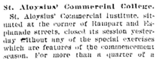 St. Aloysius Commencement 1894 #BOSHSunday