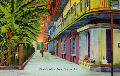 pirate's alley postcard