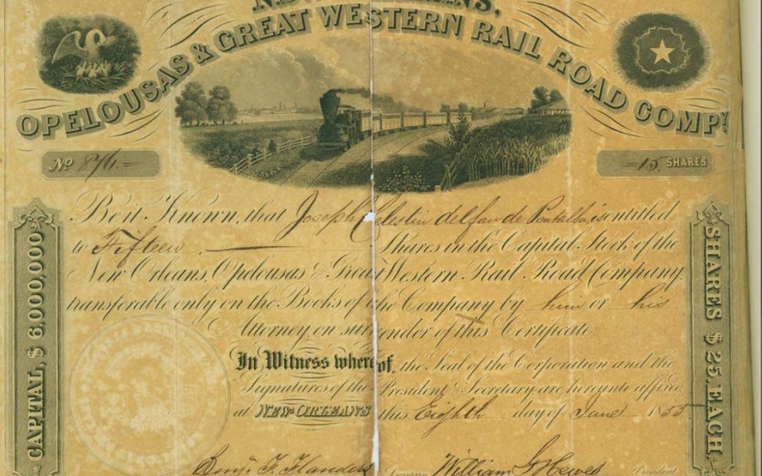 Railroad Stock Certificate 1853