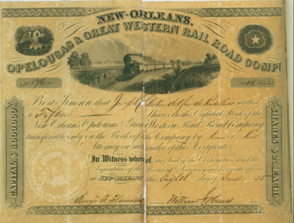 railroad stock certificate